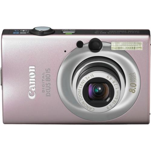 Canon IXUS 80 IS pink