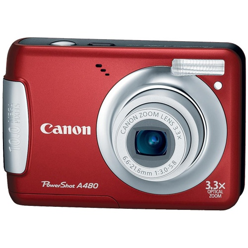 Canon PowerShot A480 red