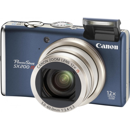 Canon PowerShot SX200 IS blue