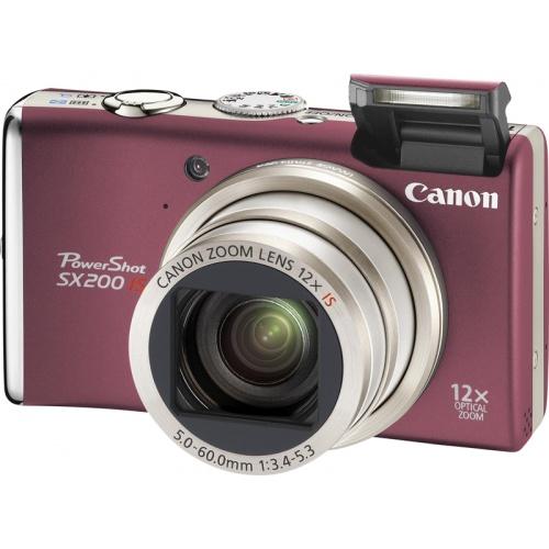 Фотография Canon PowerShot SX200 IS red
