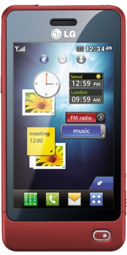 LG GD510 Sun Edition red