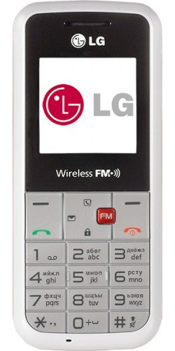 LG GS107 white with red