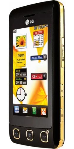 Фото телефона LG KP500 gold black