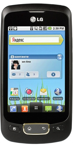 LG P500 Optimus One black gold