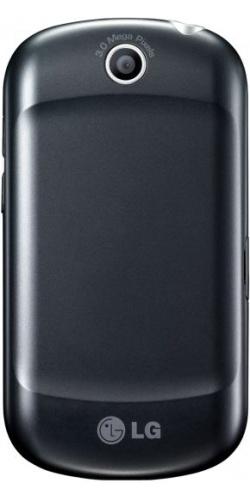 Фото телефона LG P350 Optimus Me titanium black