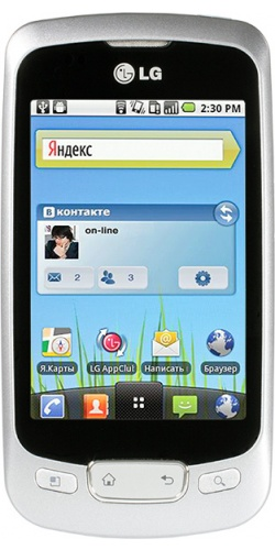 LG P500 Optimus One silver