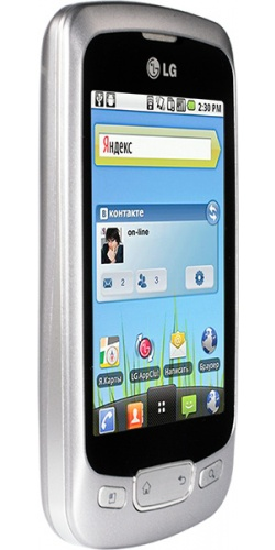 Фото телефона LG P500 Optimus One silver