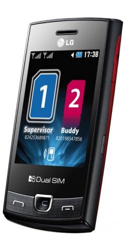 Фото телефона LG P520 Dual Sim red