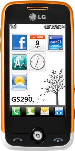 Фото телефона LG GS290 Cookie Fresh white orange