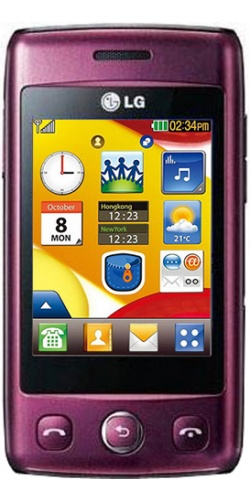 Фото телефона LG T300 Cookie Lite wine red