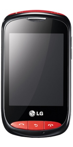 Фото телефона LG T310i black with red