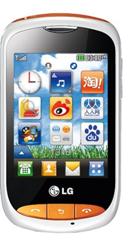 LG T310i white with orange