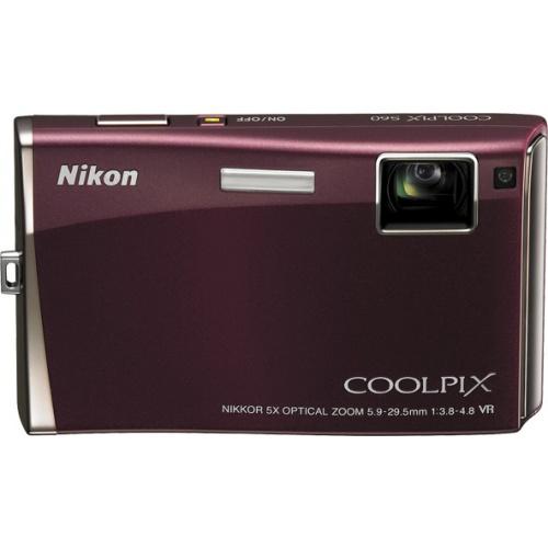 Nikon Coolpix S60 bordeaux red