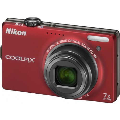 Фотография Nikon Coolpix S6000 red