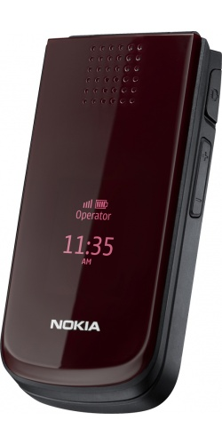 Nokia 2720 fold deep red