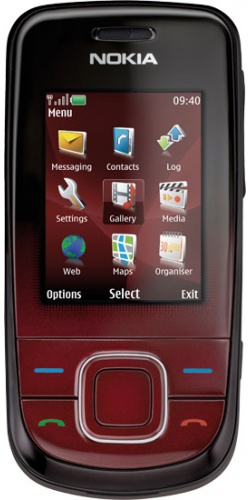 Nokia 3600 slide dark red