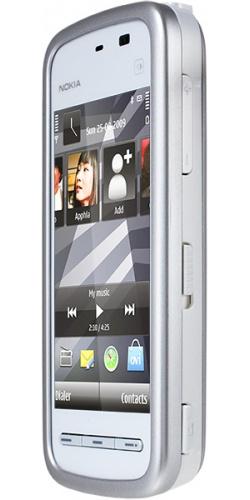 Фото телефона Nokia 5230 white blue