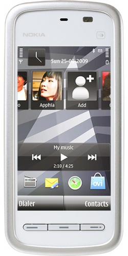 Nokia 5230 white chrome