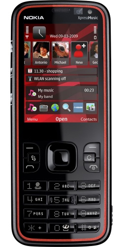 Nokia 5630 XpressMusic black red