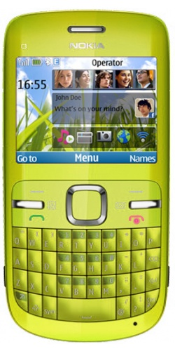 Nokia C3 lime green