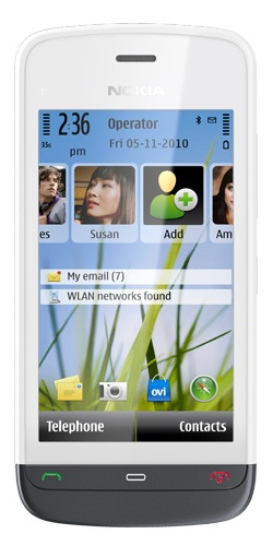 Nokia C5-03 white graph black