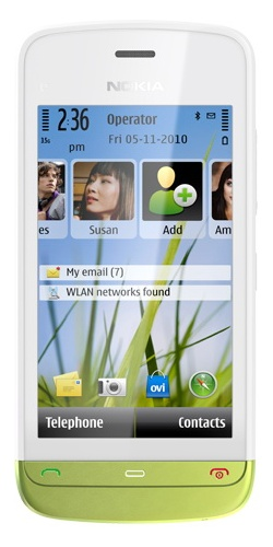 Nokia C5-03 white lime green