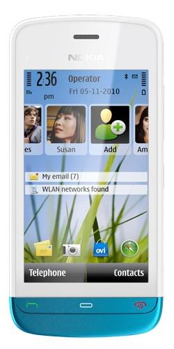 Nokia C5-03 white petrol blue