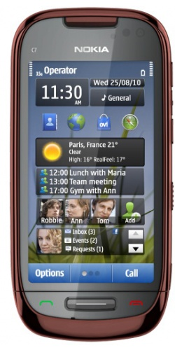 Nokia C7-00 brown