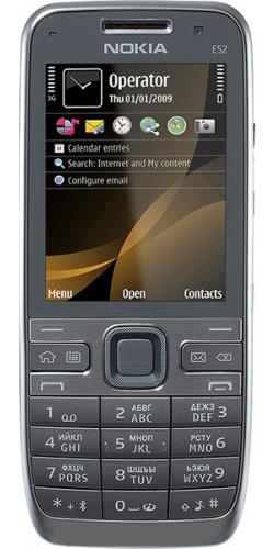 Nokia E52 metal grey aluminium