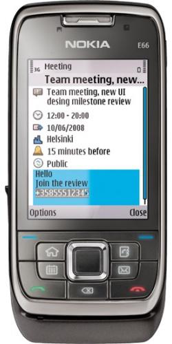 Фото телефона Nokia E66 grey steel