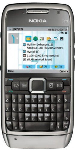 Фото телефона Nokia E71 grey steel