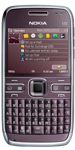 Nokia E72 Navi violet