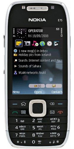 Nokia E75 black
