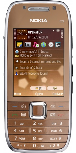 Nokia E75 brown