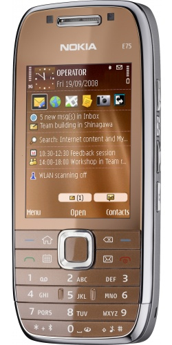 Фото телефона Nokia E75 brown