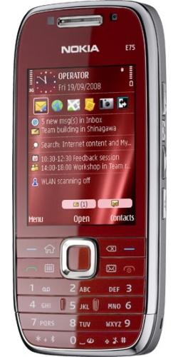 Фото телефона Nokia E75 red
