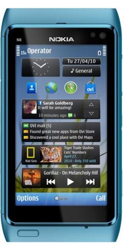 Nokia N8-00 blue