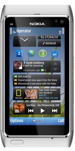 Nokia N8-00 white silver