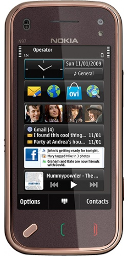 Nokia N97 mini Navi garnet black