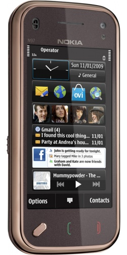 Фото телефона Nokia N97 mini Navi garnet black