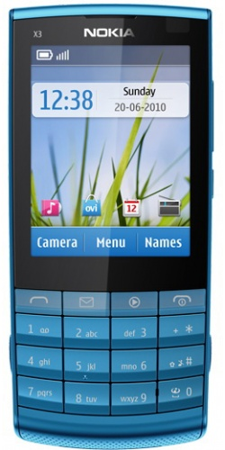 Nokia X3-02 Touch and Type petrol blue