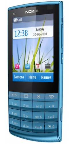 Фото телефона Nokia X3-02 Touch and Type petrol blue