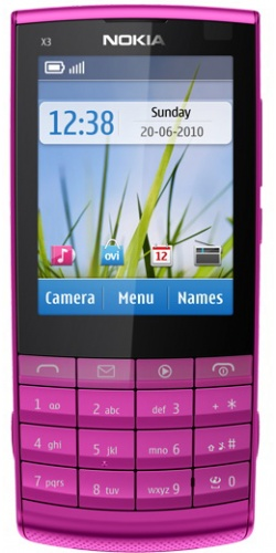 Nokia X3-02 Touch and Type pink