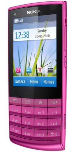 Фото телефона Nokia X3-02 Touch and Type pink