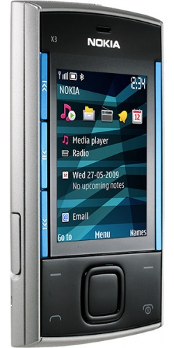 Фото телефона Nokia X3-00 slide blue on silver