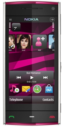 Nokia X6-00 16GB XpressMusic white pink