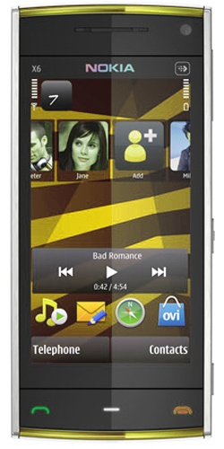 Nokia X6-00 16GB XpressMusic white yellow