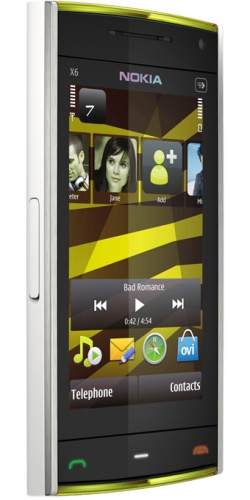 Фото телефона Nokia X6-00 16GB XpressMusic white yellow