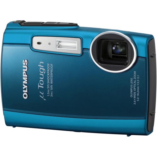 Olympus mju TOUGH-3000 turquoise blue
