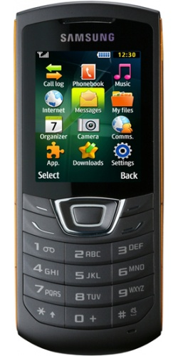 Samsung GT-C3200 Monte Bar black orange